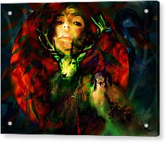 Dianas Blood Moon Acrylic Print by Stephen Lucas