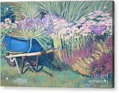 Acrylic Print featuring the pastel Diana's Garden by Terri Thompson
