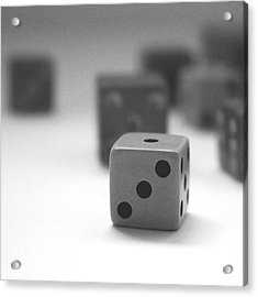 Dice 2- By Linda Woods Acrylic Print by Linda Woods