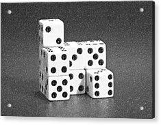 Dice Cubes I Acrylic Print by Tom Mc Nemar