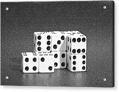 Dice Cubes II Acrylic Print by Tom Mc Nemar