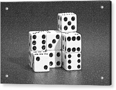 Dice Cubes IIi Acrylic Print by Tom Mc Nemar