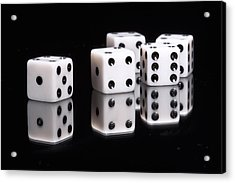 Dice II Acrylic Print by Tom Mc Nemar