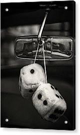 Dice In The Window Acrylic Print