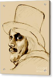 Dickens Character Acrylic Print