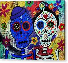 Diego Rivera And Frida Kahlo Dia De Los Muertos Acrylic Print