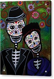 Diego Rivera And Frida Kahlo Acrylic Print by Pristine Cartera Turkus