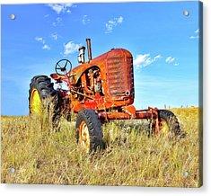 Diesel Red Acrylic Print