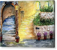 Acrylic Print featuring the painting Differences by Carol Grimes