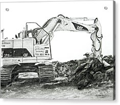 Acrylic Print featuring the drawing Dig by Meagan  Visser