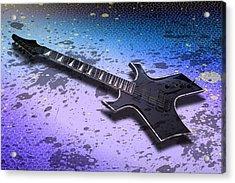Digital-art E-guitar II Acrylic Print by Melanie Viola