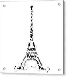 Digital-art Eiffel Tower Acrylic Print by Melanie Viola