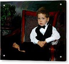 Digital Art Painting Of My Son Acrylic Print