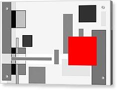 Digital Cubism Acrylic Print