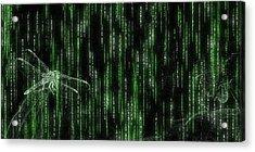 Digital Dragonfly Acrylic Print