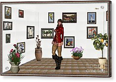 digital exhibition 32  posing  Girl 31  Acrylic Print by Pemaro