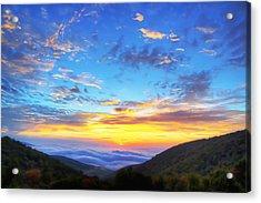 Digital Liquid - Good Morning Virginia Acrylic Print
