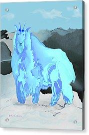 Acrylic Print featuring the digital art Digital Mountain Goat by Kae Cheatham