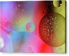 Acrylic Print featuring the photograph Digital Oil Drop Abstract by John Williams
