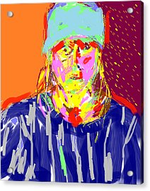 Digital Self Portrait Acrylic Print