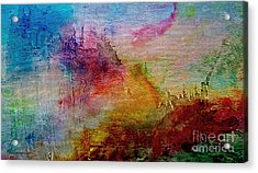 1a Abstract Expressionism Digital Painting Acrylic Print