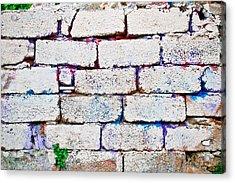 Dilapidated Brick Wall Acrylic Print