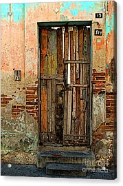 Dilapidated Acrylic Print by Mexicolors Art Photography