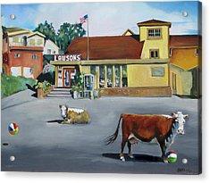 Dillion Beach Cows Acrylic Print by Kathryn LeMieux