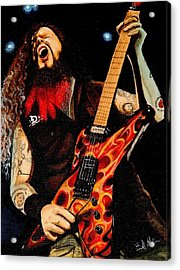 Dimebag At His Best Acrylic Print by Al  Molina