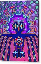 Dimensional Owl Acrylic Print by Ed Tajchman
