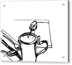 Diner Drawing Creamer 2 Acrylic Print by Chad Glass