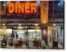 Acrylic Print featuring the digital art Diner by Francesa Miller