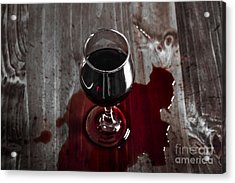 Diner Table Accident. Spilled Red Wine Glass Acrylic Print by Jorgo Photography - Wall Art Gallery