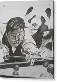 Ding Junhui Snooker Acrylic Print by James Dolan