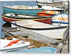 Dinghys At Bearskin Neck Acrylic Print
