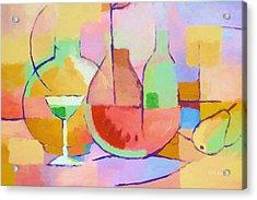 Dining Art Acrylic Print by Lutz Baar