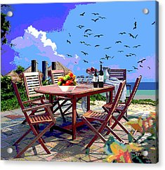 Dining By The Sea Acrylic Print