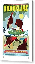 Dining En Plein Air Acrylic Print