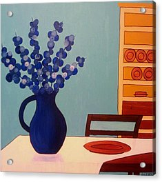 Dining In Acrylic Print by Edmund Akers