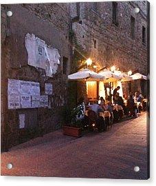 Dining In Tuscany Acrylic Print