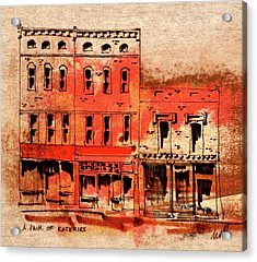 Dining On Market Square Acrylic Print by William Renzulli