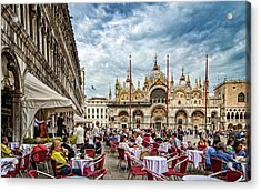 Dining On St. Mark's Square Acrylic Print