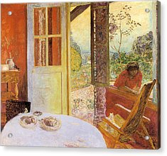 Dining Room In The Country Acrylic Print by Pierre Bonnard