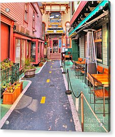 Acrylic Print featuring the photograph Dink's Taxi Bar Harbor by Debbie Stahre