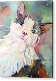 Acrylic Print featuring the painting Dinky by Christy Freeman