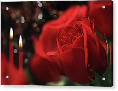 Dinner And Roses Acrylic Print by Lori Deiter