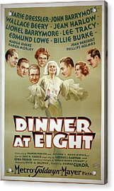 Dinner At Eight 1933 Acrylic Print by M G M