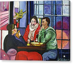 Acrylic Print featuring the painting Dinner In Dam by Patricia Arroyo
