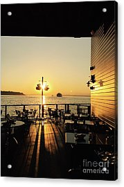 Dinner On The Water Acrylic Print