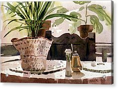 Dinning Room Table Acrylic Print by Donald Maier
